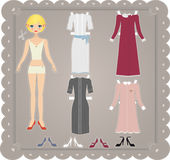 Retro Paper Doll Royalty Free Stock Photos