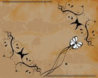 Retro paper floral vector backgrund Stock Images