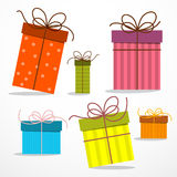 Retro Paper Gift Boxes. Vector Royalty Free Stock Image