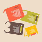 Retro Paper Infographics Layout Stock Image