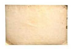 Retro Paper Isolated On White Stock Photos