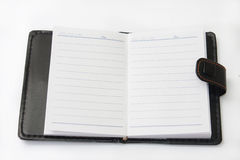 Retro paper notebook on the white background Stock Images
