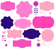 Retro paper patterned colorful tags Royalty Free Stock Photo