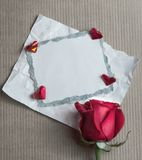 Valentine day retro card Royalty Free Stock Photo