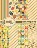 Retro pappers- designuppsättning arkivfoto