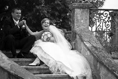 retro para ślub Obrazy Stock