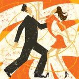Retro para taniec Zdjęcie Stock