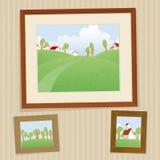 Retro parete Fotografie Stock Libere da Diritti