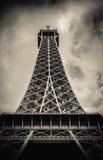 Retro Paris Eiffel Tower With Stormy Sky Royalty Free Stock Image