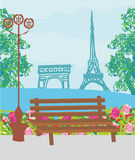 Retro Parisian card Royalty Free Stock Photos
