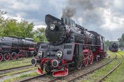 Retro parowe lokomotywy Obrazy Stock