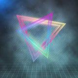 Retro- Partei-Neon-Plakat 1980 Retro- Hintergrund der Disco-80s Stockfotos