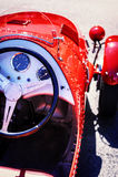 Retro particolare dell'automobile Fotografia Stock