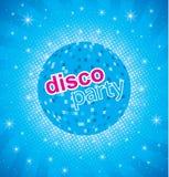 Retro partijachtergrond met discobal Stock Foto