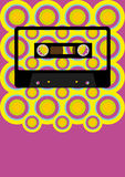 Retro Party Background Stock Photo