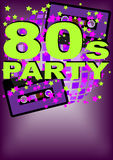 Retro Party Background. Audio cassette tape on multicolor background - vector Stock Images