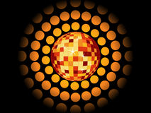 Retro party background with disco ball Royalty Free Stock Images