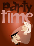 Retro party background. Illustration of a retro party background Stock Images