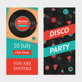 Retro party background.  Invitation template Royalty Free Stock Images