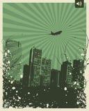 Retro Party City. Retro Music City Vector Illustration Stock Image
