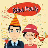 Retro party Royalty Free Stock Image