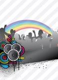 Retro party flyer Stock Image