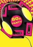 Retro- Party-Hintergrund Stockfoto