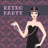 Retro party invitation Royalty Free Stock Image