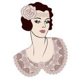 Woman retro style Royalty Free Stock Photos