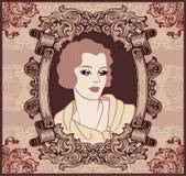 Woman retro style Stock Photo