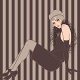 Retro party invitation. Design (1920-s vector illustration