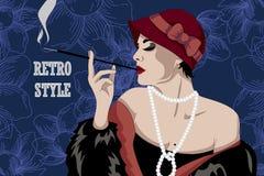 Retro party invitation design. Vector illustration Royalty Free Stock Photos