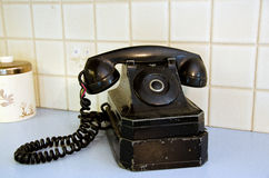 Retro party line telephone Stock Photo