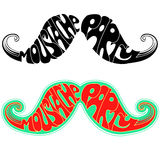 Retro party Moustaches.Vector illustration isolate Royalty Free Stock Photography