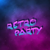 1980 Retro Party Neon Poster Retro Disco 80s Background made in. Illustration of 1980 Retro Party Neon Poster Retro Disco 80s Background made in Tron style with Stock Images