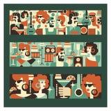 Retro- Party Plakat im Stil 60-70 Jahre Vektorillustration in Retro- style-09 jpg vektor abbildung