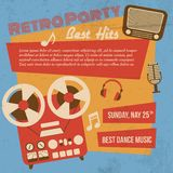 Retro party poster Royalty Free Stock Photography