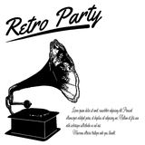 Retro Party poster Royalty Free Stock Photos