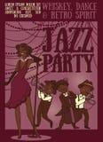 Retro party poster Royalty Free Stock Photo