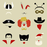 Retro Party set for photo booth and scrapbooking vector illustration
