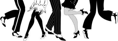 Retro party silhouette