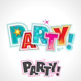 Retro Party Text, Vector Lettering Invitation Royalty Free Stock Image