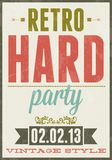 Retro party vector typography poster illustration Stock Photography