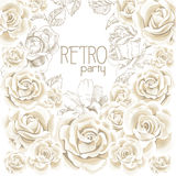 Retro party white flowers background Royalty Free Stock Photo