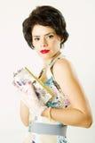 Retro party woman Royalty Free Stock Photo