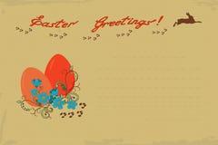 Retro Pasen-Groetkaart royalty-vrije illustratie