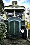 Retro passenger bus. Parked, front view Royalty Free Stock Image