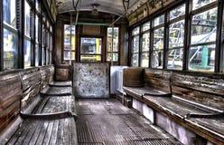 Retro Passenger Indoor Train Royalty Free Stock Photos