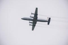 Retro passenger plane. Royalty Free Stock Photos