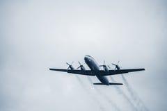 Retro passenger plane. Stock Photo